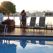 Piscina, puesta de sol Hotel Ciutat Barcelona